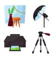 design studio and photo logo set vector image vector image