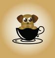 dog logo coffee vector image