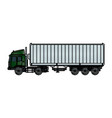 drawing truck container shipping cargo vector image