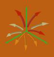 Flat shading style icon arrow chart