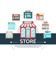 flat stores round template vector image