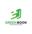 green book technology logo vector image