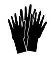 Hands of people of different nationalities icon vector image
