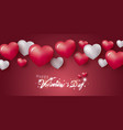 happy valentines day design of hearts vector image vector image