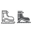 ice skate line and glyph icon christmas and new vector image vector image