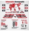 INFOGRAPHIC DEMOGRAPHIC NEW STYLE 10 RED vector image vector image