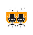 logo two work chair furniture vector image