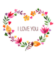 Love card with watercolor floral bouquet vector image
