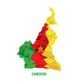 map cameroon vector image vector image