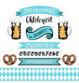 oktoberfest ribbons and lettering collection for vector image vector image