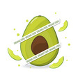 organic food web banner avocado and avocado slice vector image vector image