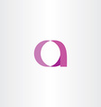 pink purple letter a icon symbol vector image vector image