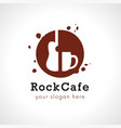 Rock cup coffee logo