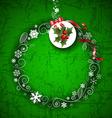 Romantic Green Christmas Border Design vector image vector image