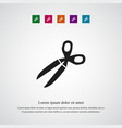 scissors icon simple vector image