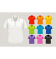 set different types shirt in different color vector image