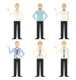 Set of engineer men vector image