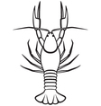 Silhouette crayfish vector image vector image
