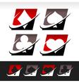 Swoosh Poker Icons vector image