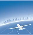 tel aviv skyline flight destination vector image