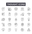 thought line icons for web and mobile design vector image vector image