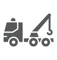 tow truck glyph icon transport and service vector image vector image