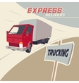 Truck express delivery vector image