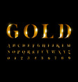 untitledgold font letters and numbers vector image
