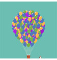 up movie icon house in air on balloons vector image vector image