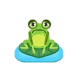 Upset Cartoon Frog Character vector image vector image