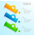 web infographic design concept vector image vector image