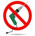 Ban drill icon flat vector image