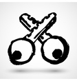 Key concept design grunge icon vector image
