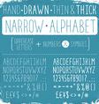 narrow alphabet vector image