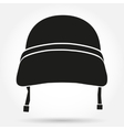 Silhouette symbol of Military helmet vector image