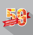 59th Years Anniversary Celebration Design vector image