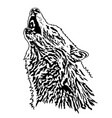 a large white wolf vector image