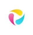 abstract liquid ink logo circle fluid symbol icon vector image