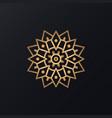abstract mandala ornament vector image vector image
