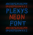 abstract red plexus neon font vector image