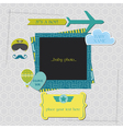 Baby Boy Shower or Arrival Card vector image vector image