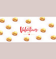 background for valentines day banner poaster vector image