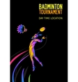 Badminton sport invitation poster or flyer vector image vector image