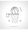 Basketball shot flat line design icon vector image vector image