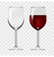 Big Reds Wine And Empty Glass vector image vector image
