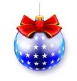 blue big ball vector image