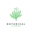 botanical flower logo template vector image vector image