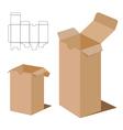 Box Packaging Design Brown box packaging vector image