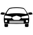 car icon front view vector image vector image