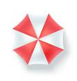 color beach umbrella top view icon of open vector image